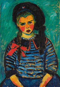 Art Prints of Girl with Red Ribbon by Alexej Von Jawlensky