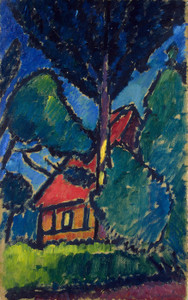 Art Prints of House with Red Roof by Alexej Von Jawlensky