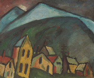 Art Prints of Mountain Landscape with Houses by Alexej Von Jawlensky