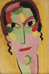 Art Prints of Mystical Head, Full Awakened by Alexej Von Jawlensky