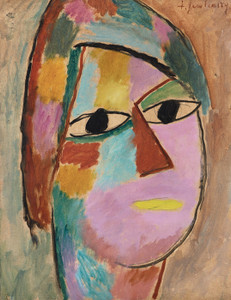 Art Prints of Mystical Head, Woman's Head, Yellow Mouth by Alexej Von Jawlensky