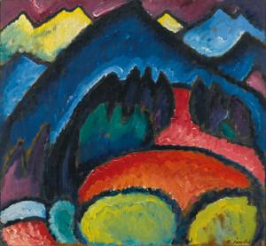 Art Prints of Oberstdorf Mountains by Alexej Von Jawlensky