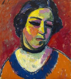 Art Prints of Portrait of a Woman by Alexej Von Jawlensky
