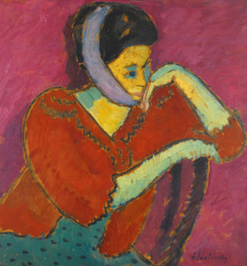 Art Prints of Woman with Head Bandage by Alexej Von Jawlensky