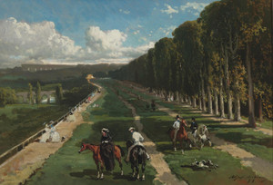 Art Prints of Alley Cavaliere Sur Las Terrace of Saint Germain by Alfred de Dreux