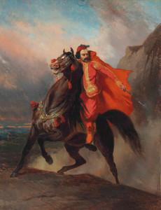 Art Prints of Ottoman Warrior on Horseback by Alfred de Dreux
