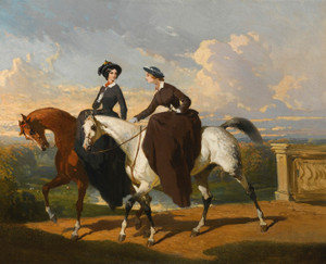 Art Prints of Two Amazons on Horses by Alfred de Dreux