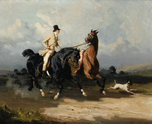 Art Prints of Two Horses Galloping by Alfred de Dreux