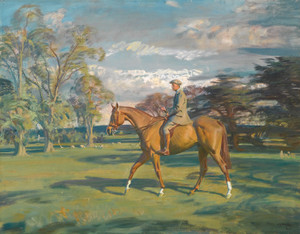 Art Prints of William Waldorf on Bill's Simondale II by Alfred James Munnings