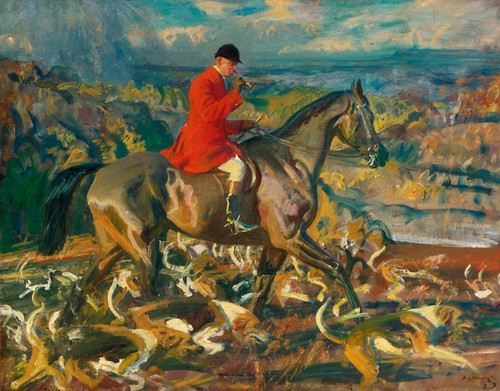 Art Prints of The Huntsman and His Hounds by Alfred James Munnings