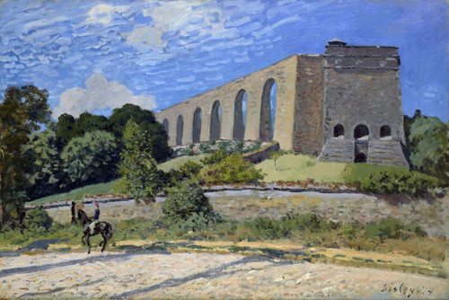 Art Prints of Aqueduct at Marly by Alfred Sisley