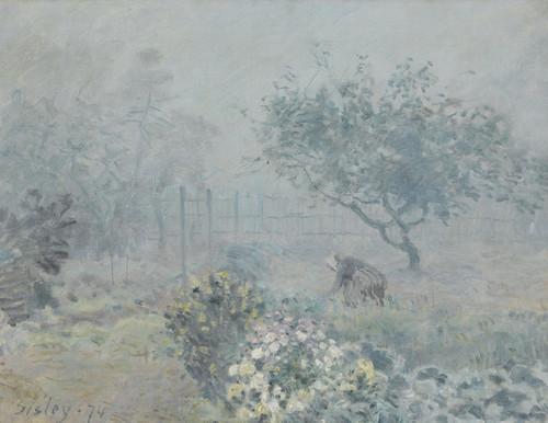 Art Prints of Fog, Voisins by Alfred Sisley