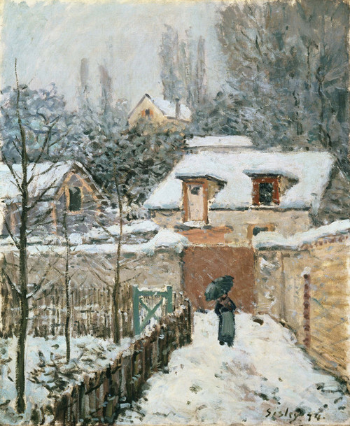 Art Prints of Snow at Louveciennes by Alfred Sisley
