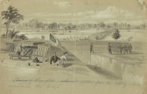 Art Prints of Ruins of Hampton (21322L) by Alfred Waud