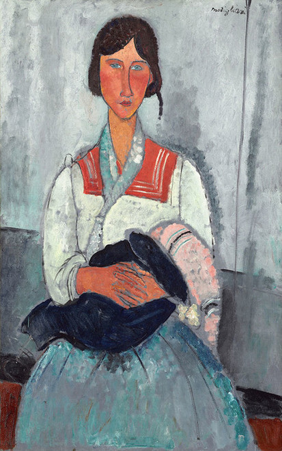 Art Prints of Gypsy Woman with Baby by Amedeo Modigliani