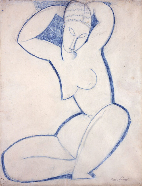 Art Prints of Caryatid, II by Amedeo Modigliani