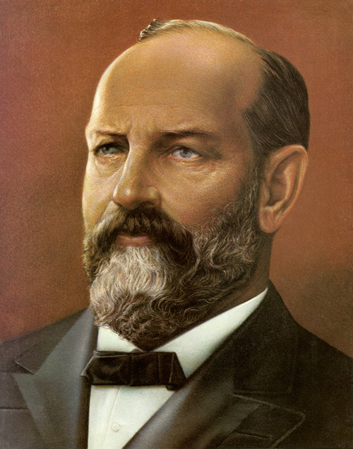 Art Prints of James A.Garfield, Presidential Portraits