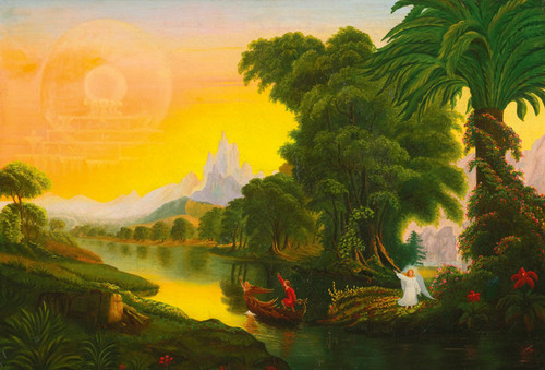 Art Prints of After Thomas Cole, The Voyage of Life, Youth, American School