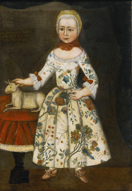 Art Prints of Margaretha Sigel in a Crewel Embroidered Gown, American School