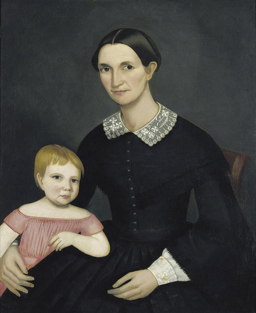 Art Prints of Portrait of Sarah King Dewey and her Daughter Harriet by Ammi Phillips
