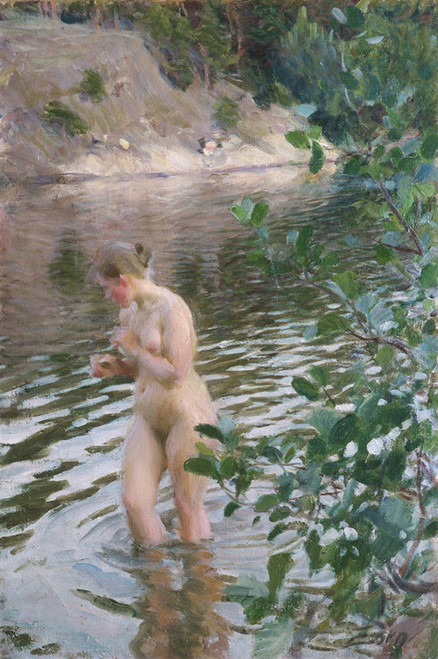 Art Prints of Frileuse (chilly) by Anders Zorn