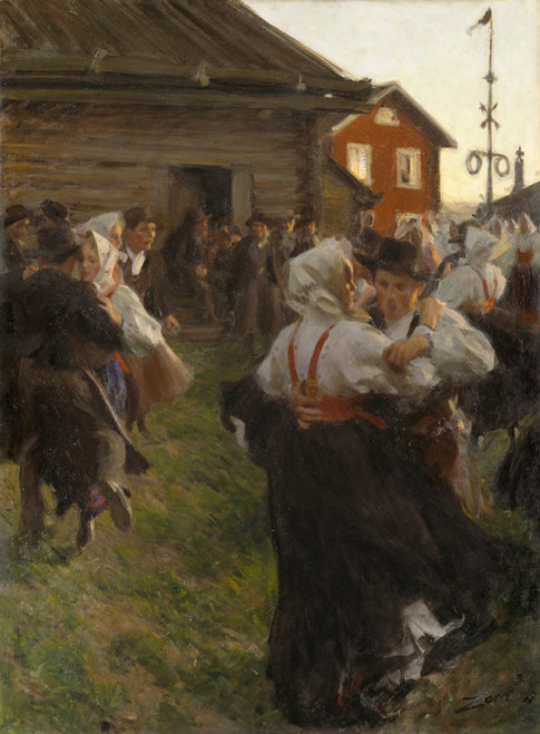 Art Prints of Midsummer Dance by Anders Zorn