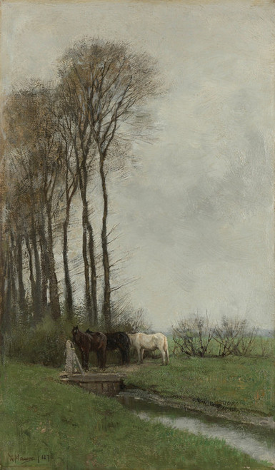 Art Prints of Horses at the Gate by Anton Mauve
