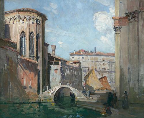 Art Prints of San Gregorio and the Rio Della Salute by Arthur Streeton