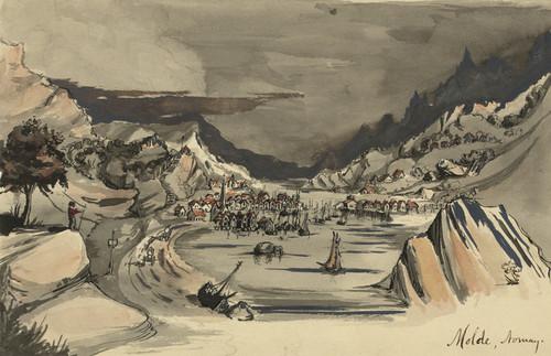 Art Prints of Molde, Norwegian Village on the Moldefjorden (22915L) by Bayard Taylor