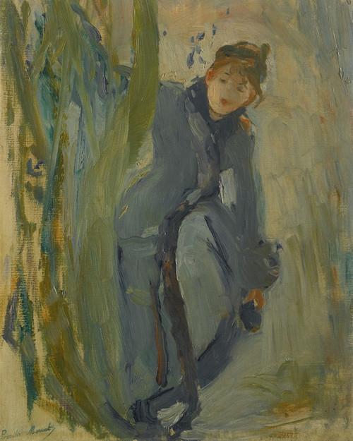 Art Prints of Girl handling her Shoe by Berthe Morisot