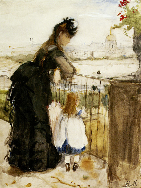 Art Prints of On the Balcony by Berthe Morisot