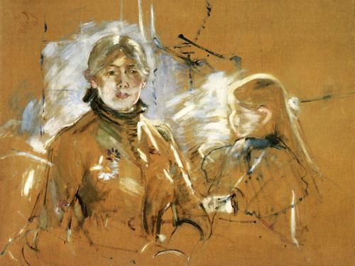 Art Prints of Portrait of Berthe Morisot and her Daughter by Berthe Morisot