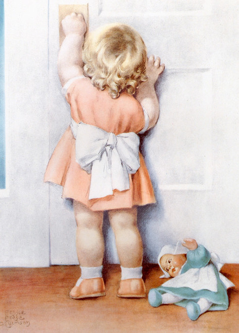 Art Prints of Clara's Friend Cindy Turns Four Years Old by Bessie Pease Gutmann