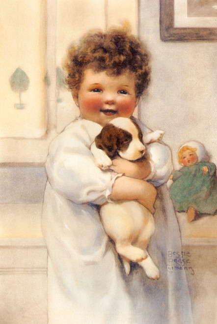 Art Prints of Peter Thinks His Dog is Better Than Any Toy by Bessie Pease Gutmann