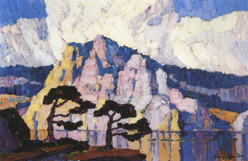 Art Prints of Lake in the Mountains by Birger Sandzen