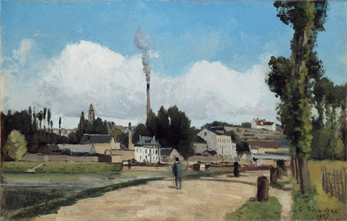 Art Prints of Banks of the Oise at Pontoise by Camille Pissarro