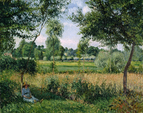 Art Prints of Morning Sunlight Effect by Camille Pissarro