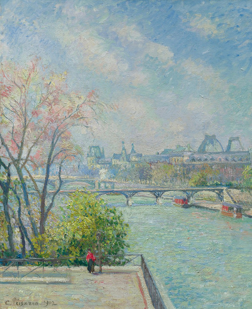 Art Prints of Spring Morning, Louvre by Camille Pissarro