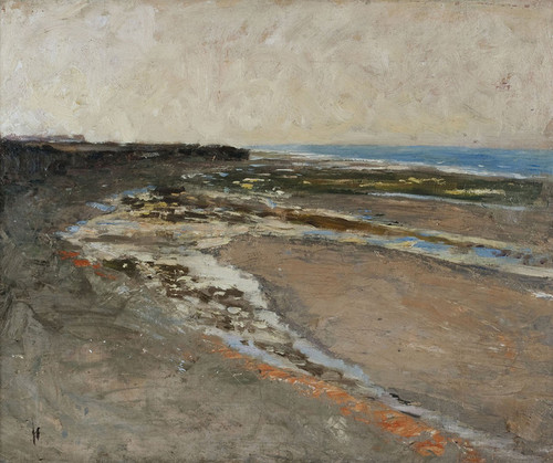 Art Prints of Seashore at Luc-sur-Mer by Carl Frederik Hill