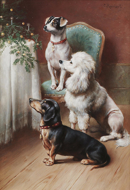 Art Prints of A Christmas Treat by Carl Reichert