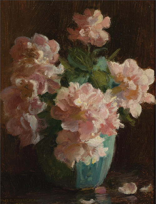 Art Prints of Pink Roses by Charles Courtney Curran
