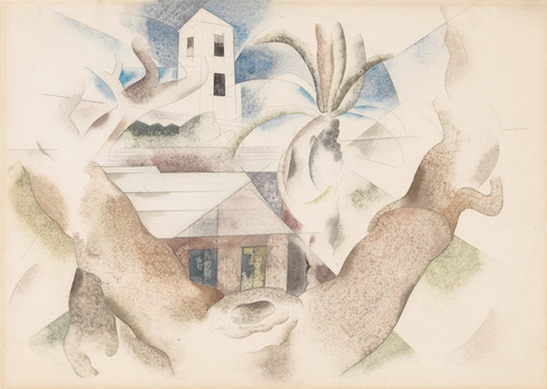 Art Prints of Bermuda No. 1, Tree and House by Charles Demuth