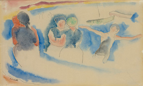 Art Prints of Bathing Beach by Charles Demuth