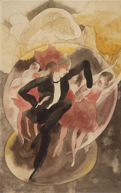 Art Prints of In Vaudeville or Dancer with Chorus by Charles Demuth