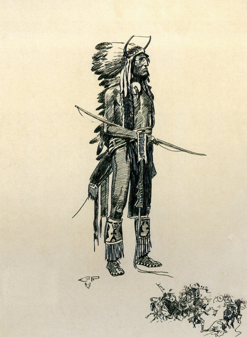 Art Prints of Blackfeet Warrior, 1909 by Charles Marion Russell