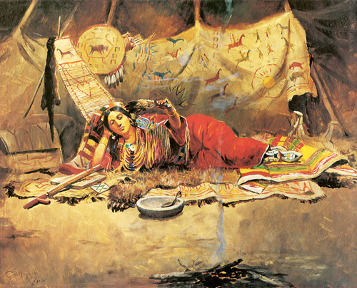 Art Prints of Keeoma by Charles Marion Russell