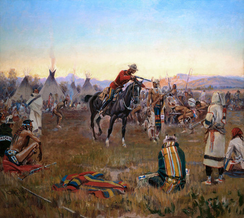 Art Prints of Single Handed by Charles Marion Russell