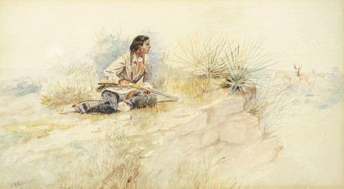 Art Prints of Antelope Hunt by Charles Marion Russell
