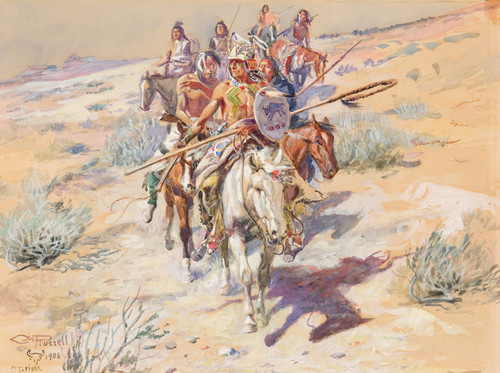 Art Prints of Return of the Warriors by Charles Marion Russell