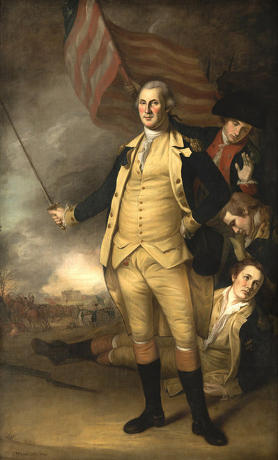 Art Prints of George Washington at the Battle of Princeton by Charles Willson Peale